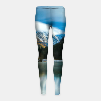Thumbnail image of Beautiful lake with mountains in background in Zgornje Jezersko Girl's leggings, Live Heroes