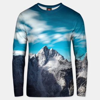 Thumbnail image of Jalovec mountain in Slovenia Unisex sweater, Live Heroes