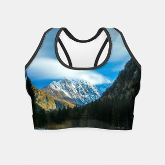 Thumbnail image of Beautiful lake with mountains in background in Zgornje Jezersko Crop Top, Live Heroes