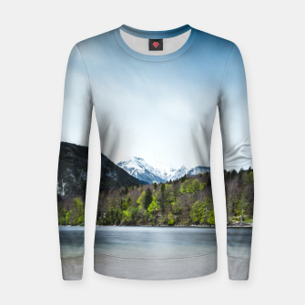 Miniatur Lake Bohinj with Alps in Slovenia Women sweater, Live Heroes