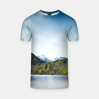 Miniatur Lake Bohinj with Alps in Slovenia T-shirt, Live Heroes