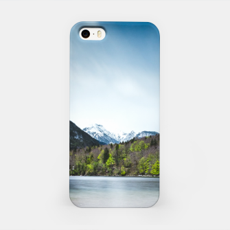 Miniatur Lake Bohinj with Alps in Slovenia iPhone Case, Live Heroes