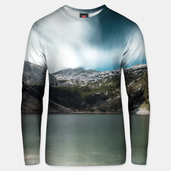 Thumbnail image of Magnificent lake Krn with mountain Krn, Slovenia Unisex sweater, Live Heroes