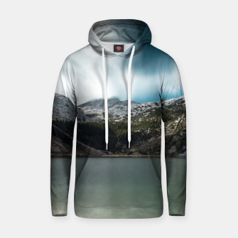 Thumbnail image of Magnificent lake Krn with mountain Krn, Slovenia Hoodie, Live Heroes