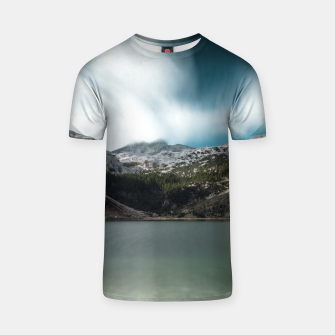 Thumbnail image of Magnificent lake Krn with mountain Krn, Slovenia T-shirt, Live Heroes