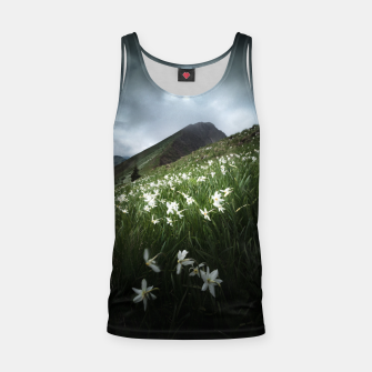Thumbnail image of Mountain Golica and Narcissus flowers Tank Top, Live Heroes