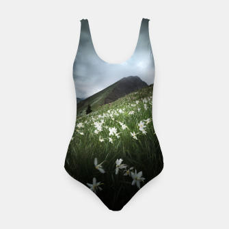Thumbnail image of Mountain Golica and Narcissus flowers Swimsuit, Live Heroes