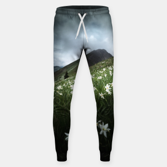 Thumbnail image of Mountain Golica and Narcissus flowers Sweatpants, Live Heroes