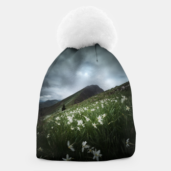 Thumbnail image of Mountain Golica and Narcissus flowers Beanie, Live Heroes