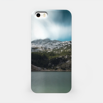 Thumbnail image of Magnificent lake Krn with mountain Krn, Slovenia iPhone Case, Live Heroes