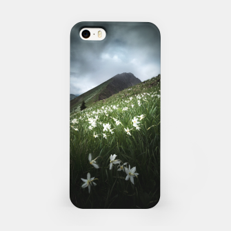 Thumbnail image of Mountain Golica and Narcissus flowers iPhone Case, Live Heroes