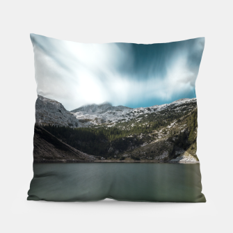 Thumbnail image of Magnificent lake Krn with mountain Krn, Slovenia Pillow, Live Heroes