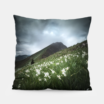 Thumbnail image of Mountain Golica and Narcissus flowers Pillow, Live Heroes