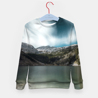 Thumbnail image of Magnificent lake Krn with mountain Krn, Slovenia Kid's sweater, Live Heroes