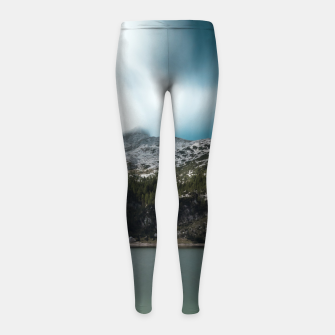 Thumbnail image of Magnificent lake Krn with mountain Krn, Slovenia Girl's leggings, Live Heroes