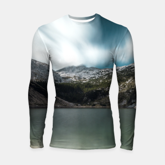 Thumbnail image of Magnificent lake Krn with mountain Krn, Slovenia Longsleeve rashguard , Live Heroes