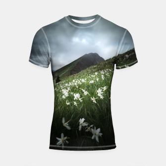 Thumbnail image of Mountain Golica and Narcissus flowers Shortsleeve rashguard, Live Heroes