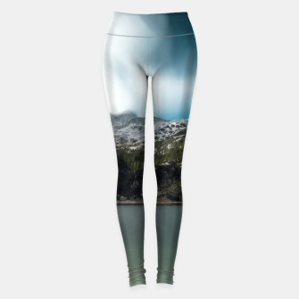 Thumbnail image of Magnificent lake Krn with mountain Krn, Slovenia Leggings, Live Heroes