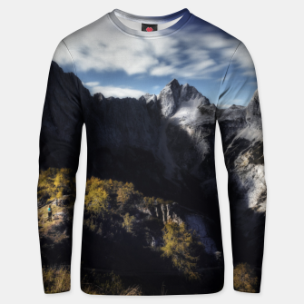 Thumbnail image of In awe of the mountains Unisex sweater, Live Heroes