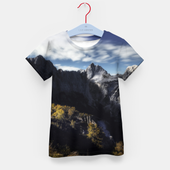 Imagen en miniatura de In awe of the mountains Kid's t-shirt, Live Heroes