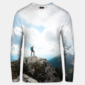 Thumbnail image of Looking over new adventures Unisex sweater, Live Heroes