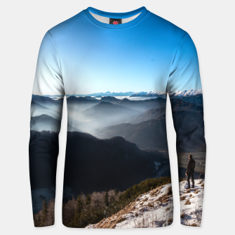 Thumbnail image of Looking over new horizons Unisex sweater, Live Heroes