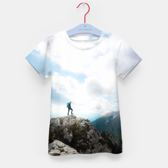Imagen en miniatura de Looking over new adventures Kid's t-shirt, Live Heroes