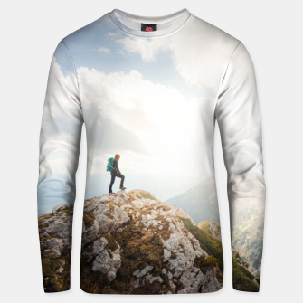 Thumbnail image of Mountain wanderer Unisex sweater, Live Heroes