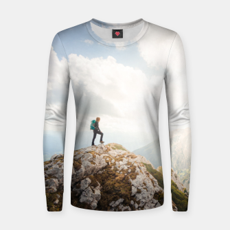 Mountain wanderer Women sweater Bild der Miniatur