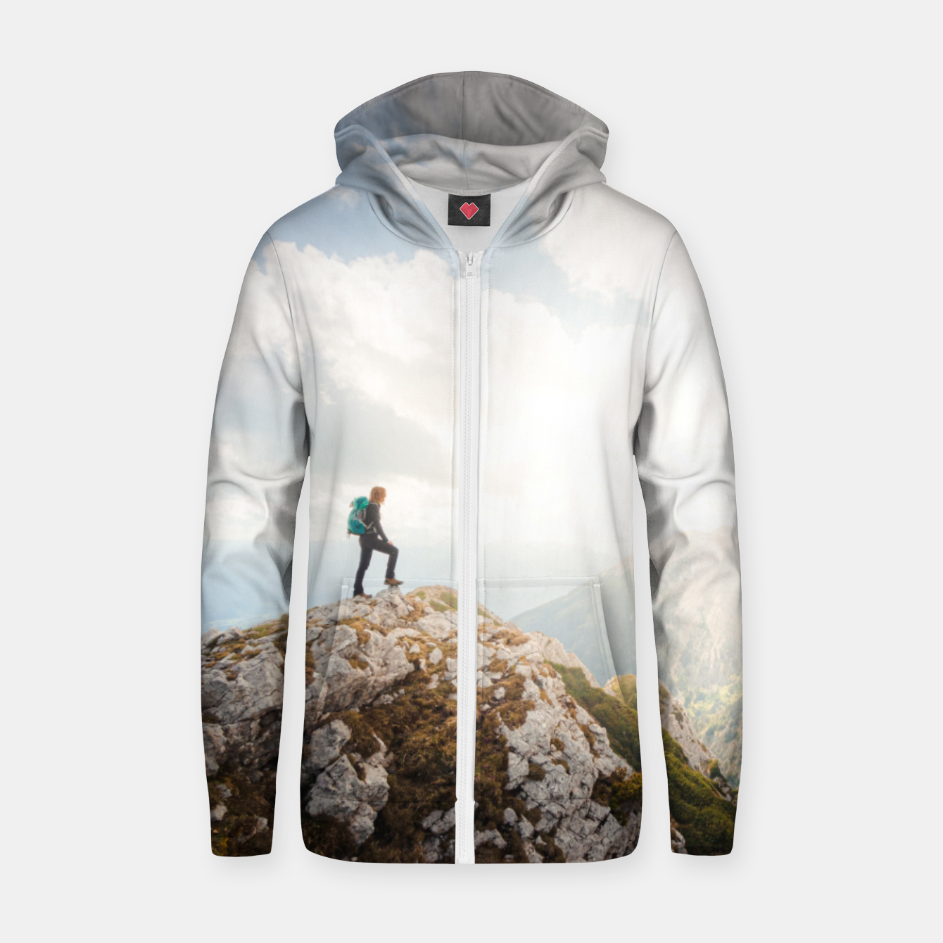 Foto Mountain wanderer Zip up hoodie - Live Heroes