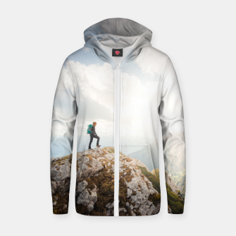 Miniature de image de Mountain wanderer Zip up hoodie, Live Heroes