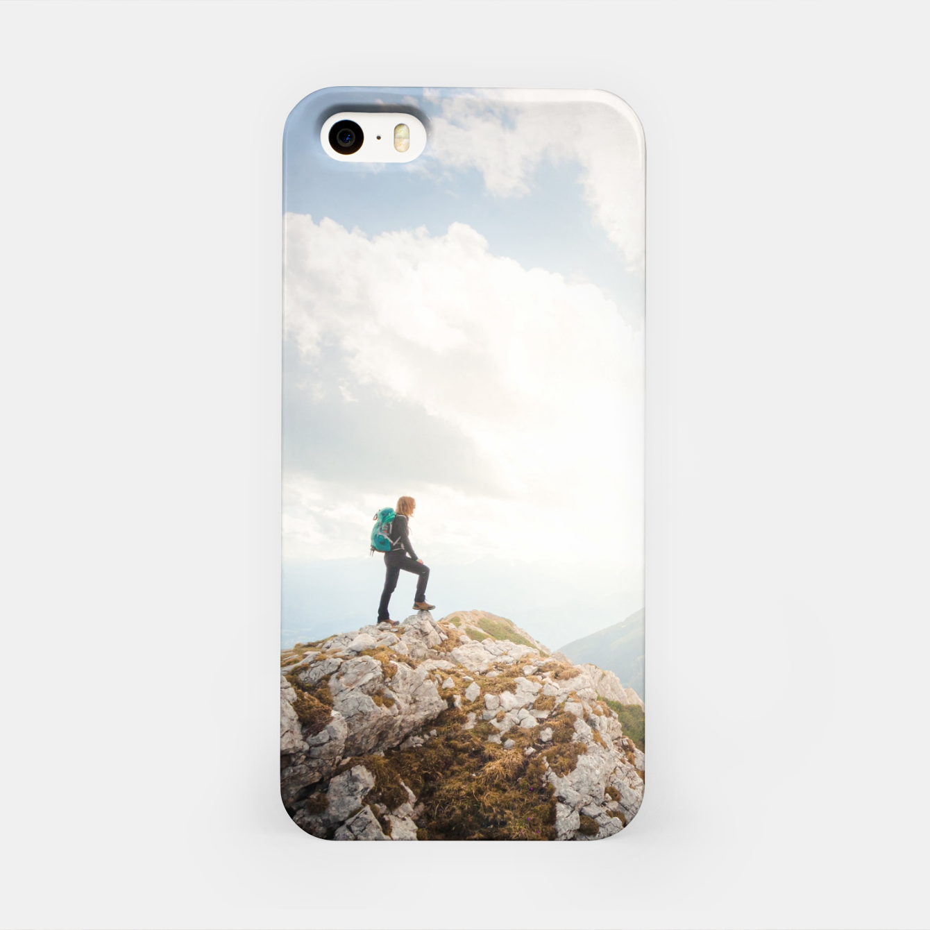 Foto Mountain wanderer iPhone Case - Live Heroes