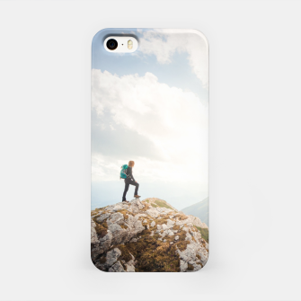 Miniature de image de Mountain wanderer iPhone Case, Live Heroes