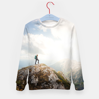 Mountain wanderer Kid's sweater Bild der Miniatur