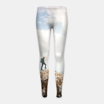 Mountain wanderer Girl's leggings Bild der Miniatur