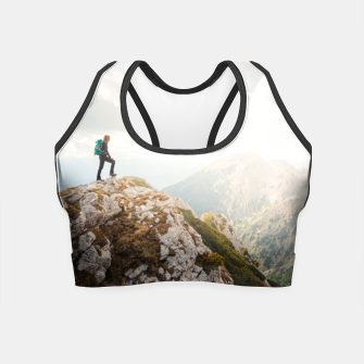 Mountain wanderer Crop Top Bild der Miniatur