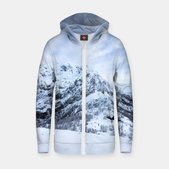 Miniatur Winter wonderland explorer Zip up hoodie, Live Heroes