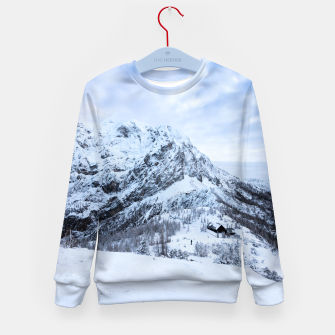 Miniatur Winter wonderland explorer Kid's sweater, Live Heroes