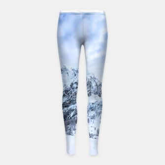 Miniature de image de Winter wonderland explorer Girl's leggings, Live Heroes