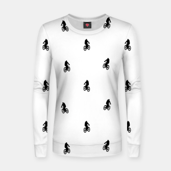 Miniaturka Riding Bike Motif Print Pattern Women sweater, Live Heroes