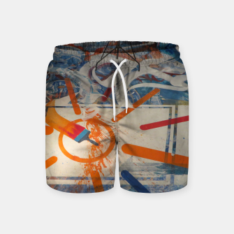 Miniatur paint brush orange Badeshorts, Live Heroes