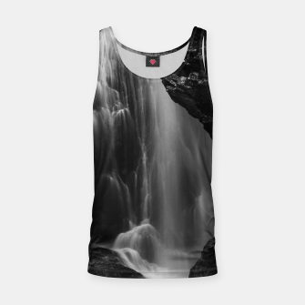 Thumbnail image of Black and white waterfall long exposure Tank Top, Live Heroes