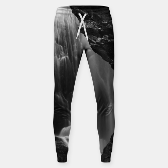 Thumbnail image of Black and white waterfall long exposure Sweatpants, Live Heroes