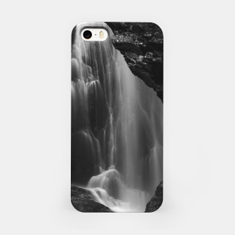 Thumbnail image of Black and white waterfall long exposure iPhone Case, Live Heroes