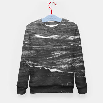 Imagen en miniatura de Black and white photo of a stormy sea Kid's sweater, Live Heroes