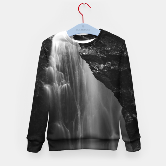 Thumbnail image of Black and white waterfall long exposure Kid's sweater, Live Heroes