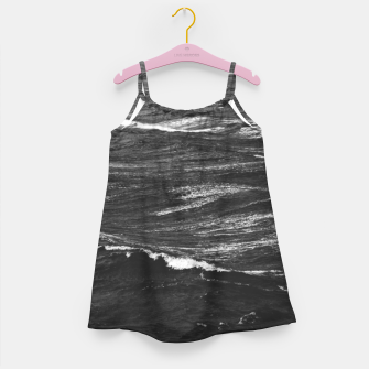 Miniaturka Black and white photo of a stormy sea Girl's dress, Live Heroes