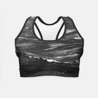 Miniaturka Black and white photo of a stormy sea Crop Top, Live Heroes