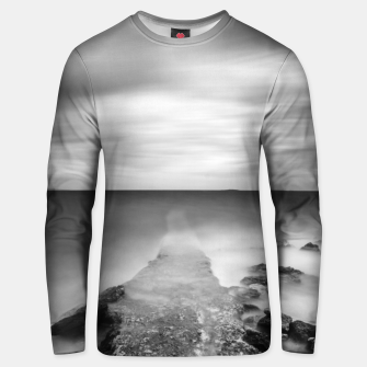 Thumbnail image of Disappearing pier in sea Unisex sweater, Live Heroes