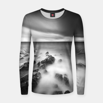 Thumbnail image of Dramatic rocky shore Women sweater, Live Heroes